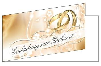 50 Stuck Einladungskarten Zur Hochzeit Ekt 102 Format Din Lang
