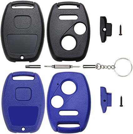 Cutting Not Required Replacement Key Fob Shell Case Fit for Honda Accord Civic Ex Pilot CR-V 4 Buttons Keyless Entry Remote Car Key Housing with Screwdriver
