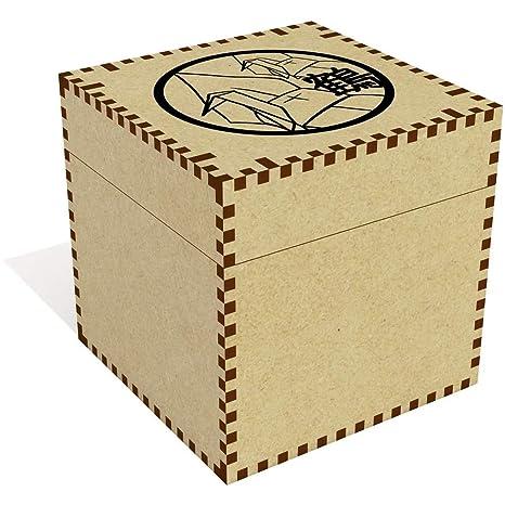 Azeeda Grande (81mm) Grúas Japonesas de Origami Joyería Caja (JB00002322)