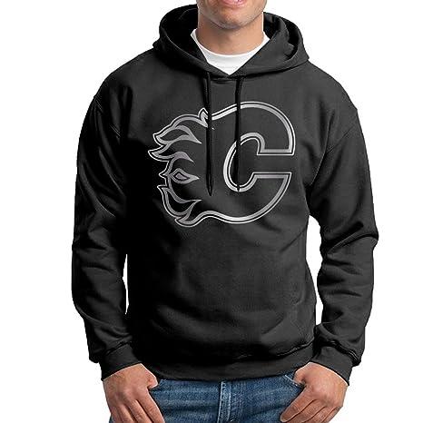release info on 734a7 0a39c Men's Calgary Flames Platinum Logo Hoodie Sweatshirt: Amazon ...