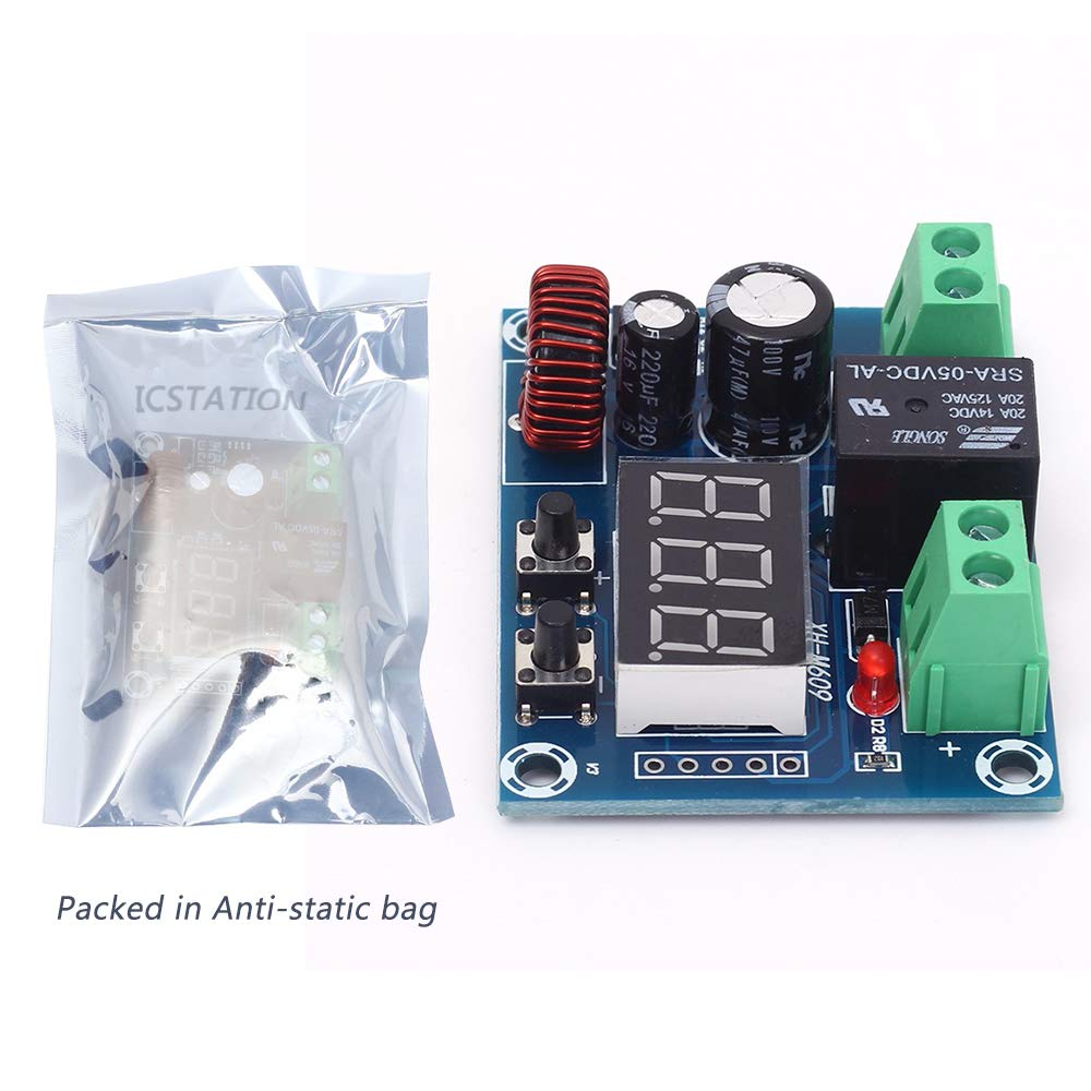 Icstation Digital Low Voltage Protector Disconnect Switch Over Discharge Protection Module for 12-34V Lead Acid Lithium Battery by IS (Image #4)