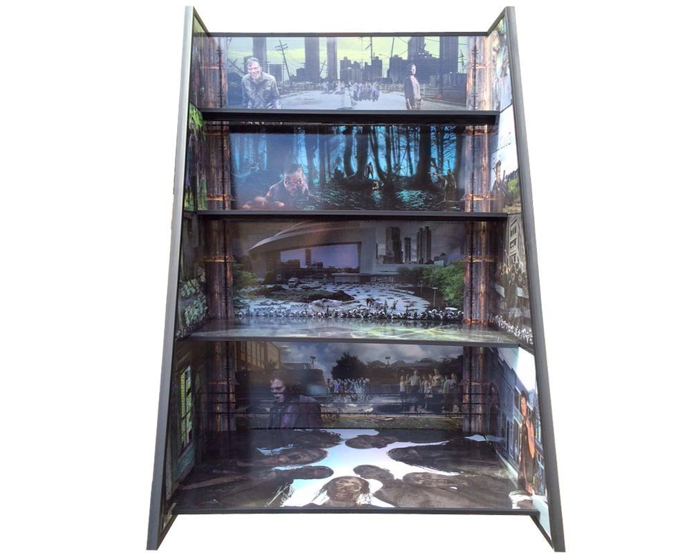 The Walking Dead Play and Display Shelves