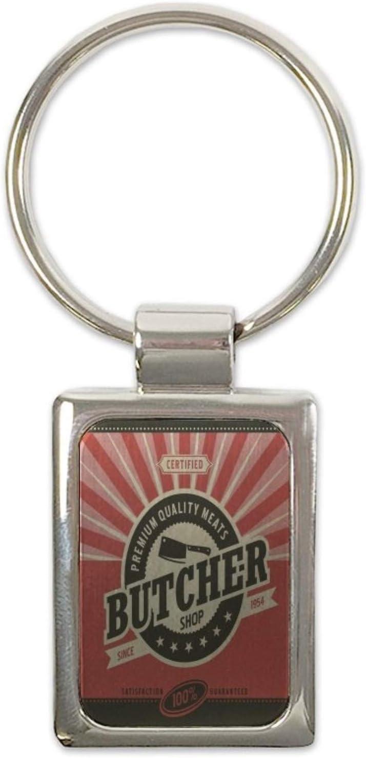 LEotiE SINCE 2004 Porte-cl/és /étiquette de Bagage Cl/é de la Moto Professionnel Guilde Boucherie imprim/ées
