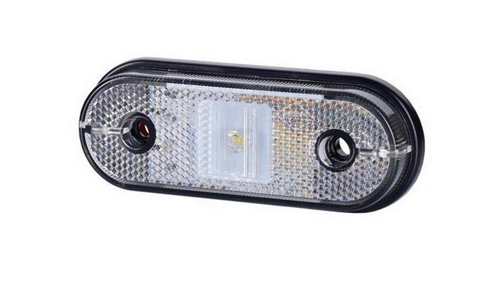 2 x 1 SMD LED Wei/ß Begrenzungsleuchte Seitenleuchte mit Reflektor 12V 24V E-Pr/üfzeichen Positionsleuchte Auto LKW PKW Lampe Leuchte Licht Paar Set