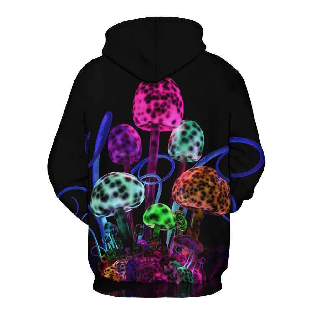 COTTONI-Tops Hoodies for Women Pullover Plus Size,Womens Plus Fashion Hoodies /& Sweatshirts,Lovers Casual Hoodies Sweatshirt,Black,L