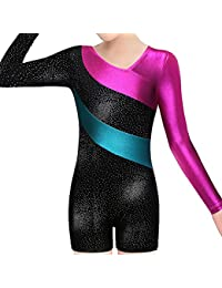 Leotard for Girls Gymnastics Toddler Sparkle Stripes Tank...
