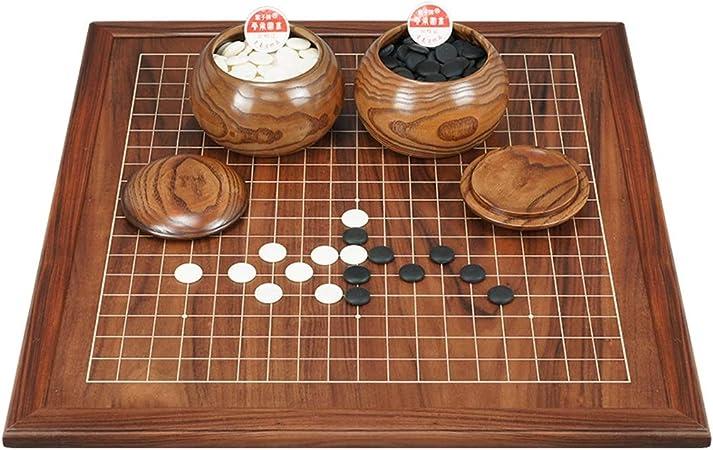 WEN Juegos Go, Tablero de ajedrez de Madera de Doble Cara Juego de ajedrez Go para niños Principiantes Adultos (tamaño: 2 cm): Amazon.es: Hogar