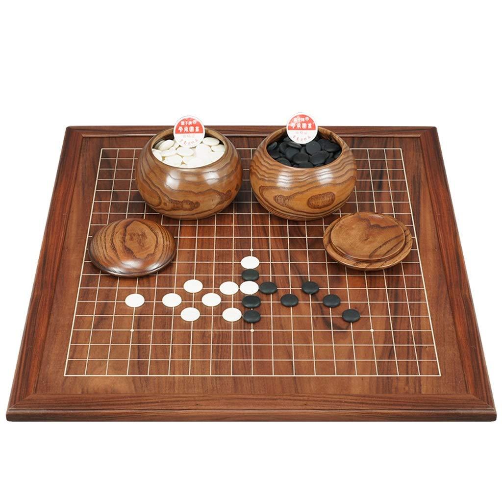 LIAN Go Games, doppelseitiges Holzschachbrett Go Chess Set für Erwachsene Anfängerkinder (Größe: 2 cm)