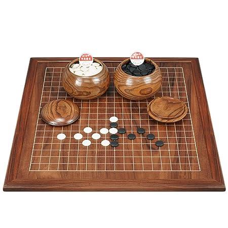 LYQZ Juegos Go, Tablero de ajedrez de Madera de Doble Cara Juego ...