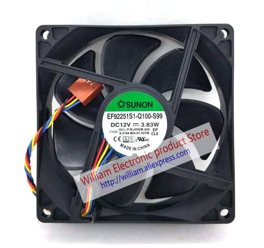 YOUMAN EF92251S1-Q100-S99 DC12V 3.83W JVH2M-A00 929225MM 9cm Computer CPU Cooling Fan