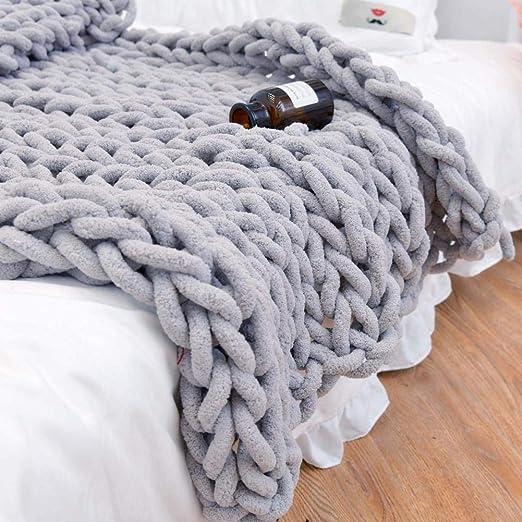 Couverture tricotée Chunky, couvertures en