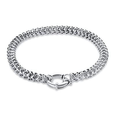 5c407752274 925 Sterling Silver Bracelets For Women - Designer, Chain Link Bracelet  with Charm and Simple