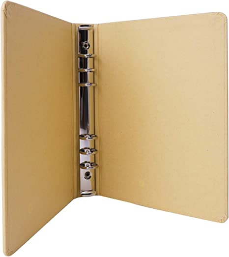 Amazon.com: Cuaderno de papel Kraft A5, 6 anillos ...