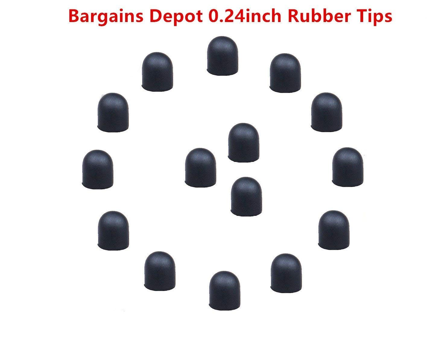 Bargains Depot 15Pcs 0.24' (Dia) Soft Replacement Rubber Tips Please Note : These Tips (Only Fit/for Bargains Depot 2-in-1 Stylus) 4326581434