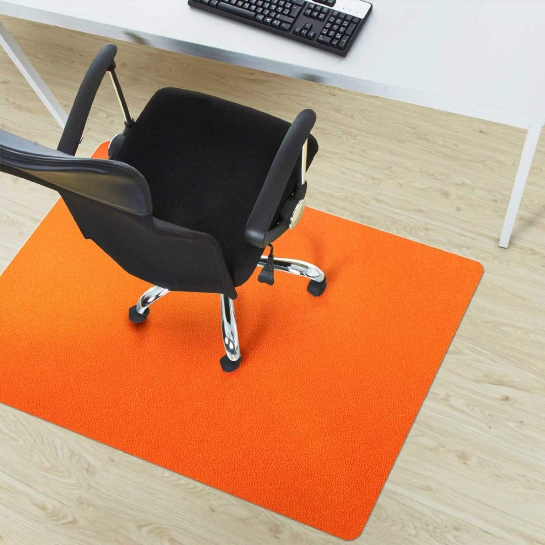 etm Office Chair Mat - Orange - Multipurpose Floor Protection - 75x120cm (2.5'x4')