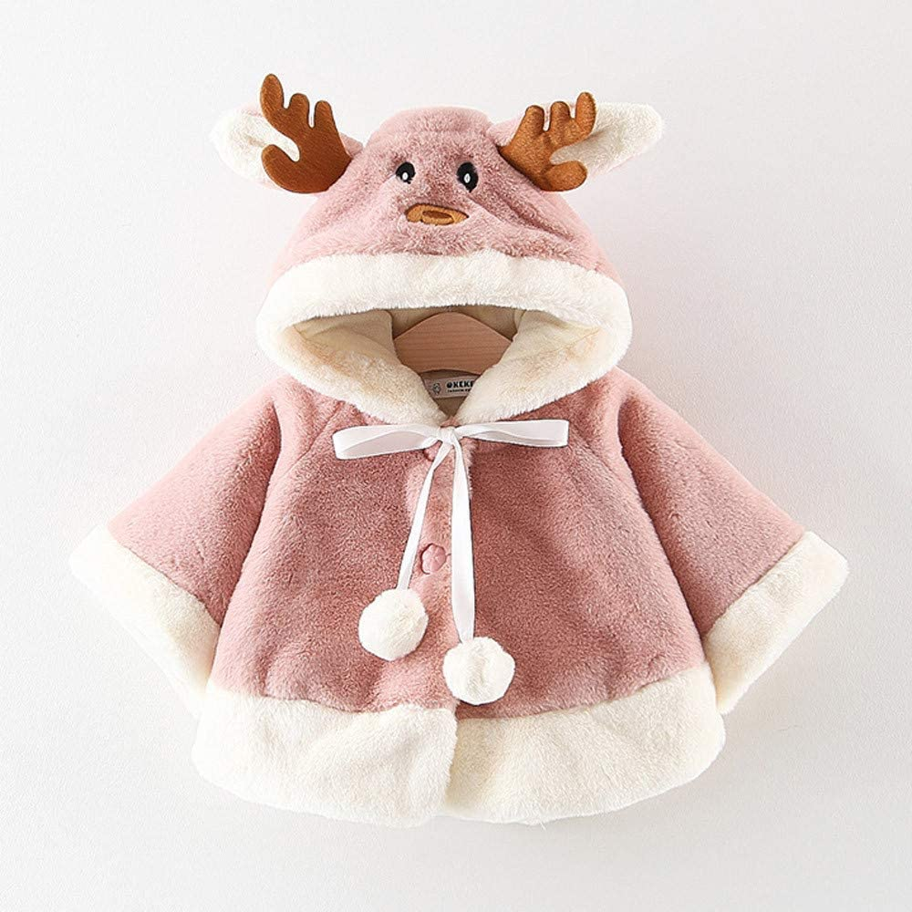 Staron  Infant Baby Girls Jacket Coat Outfits Deer Christmas Cloak Hoodies Outerwear