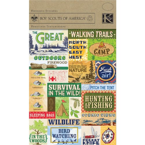 Boy Scouts Embossed Stickers - 1