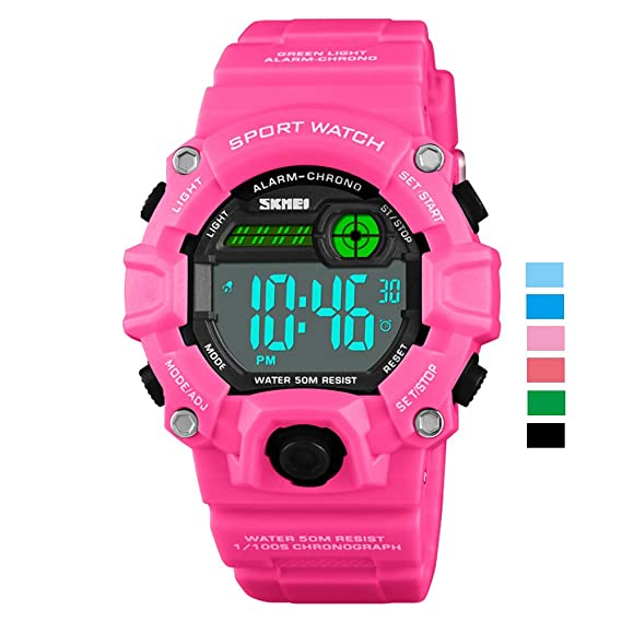 Watch for Kids Digital, Boys Girls Watches for Kids Waterproof 50M  Stopwatch Alarm Dual Time 12/24h Date Backlight Time Teacher Watches