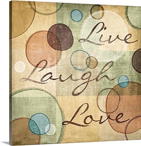 N. Harbick Premium Thick-Wrap Canvas Wall Art Print entitled Live Laugh Love
