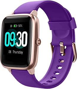 Willful Smart Watch for Android Phones and iOS Phones Compatible iPhone Samsung, IP68 Swimming Waterproof Smartwatch Fitness Tracker Fitness Watch Heart Rate Monitor Watches for Men Women (Purple)
