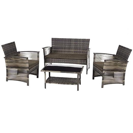 Ldk Garden Conjunto De Muebles Para Jardín Y Terraza De