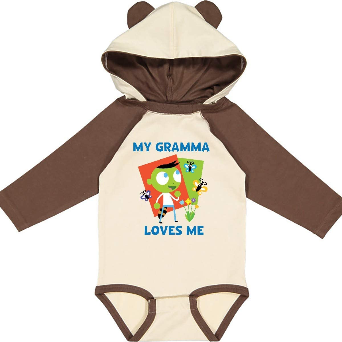 inktastic Gramma Loves Me with Del Long Sleeve Creeper PBS Kids