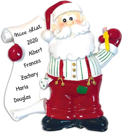 Kids Christmas List 2020 Amazon.com: Personalized Santa's List Christmas Tree Ornament 2020