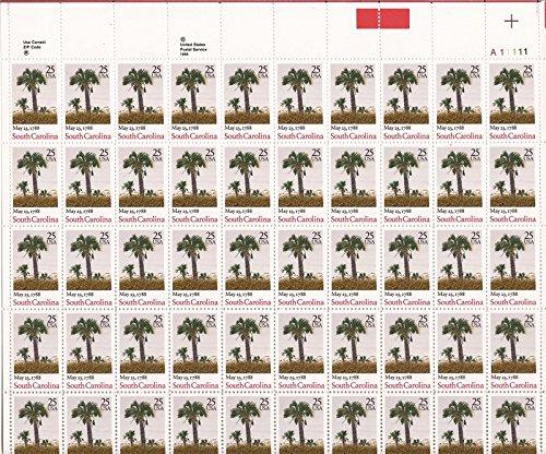 US Stamp - 1988 South Carolina Statehood - 50 Stamp Sheet #2343