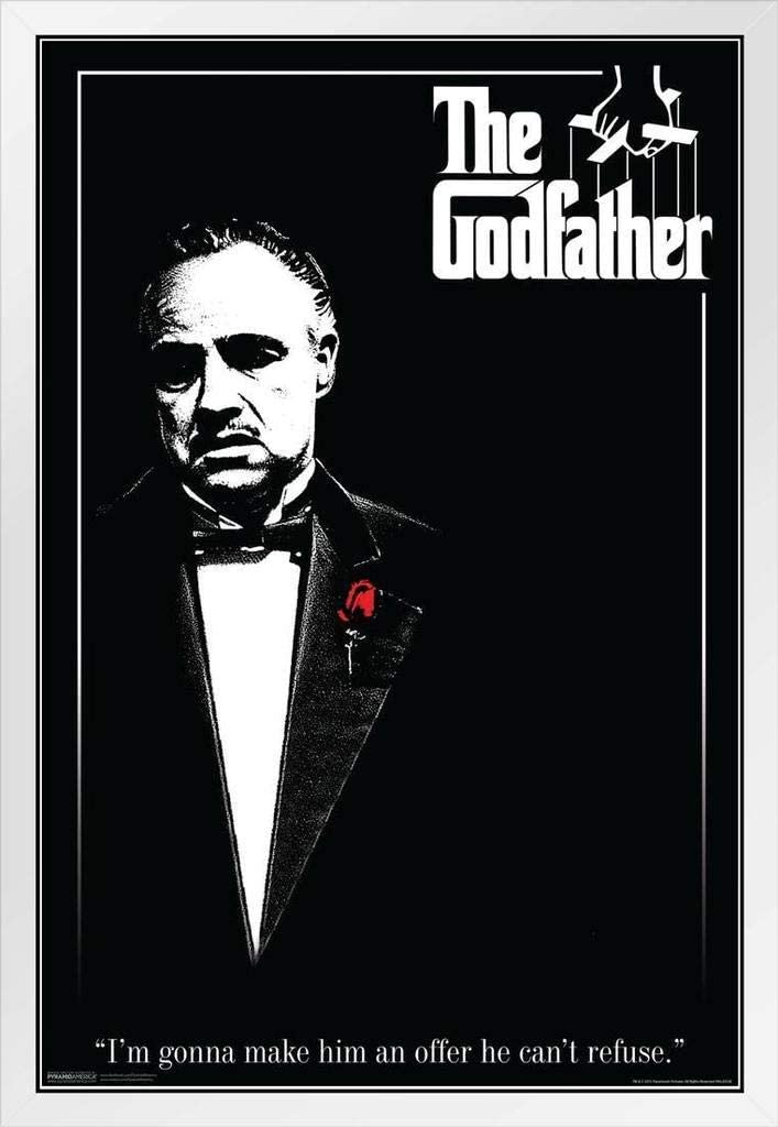 The Godfather Al Pacino Movie Framed Giant CANVAS PRINT A0 A1 A2 A3 A4 Sizes