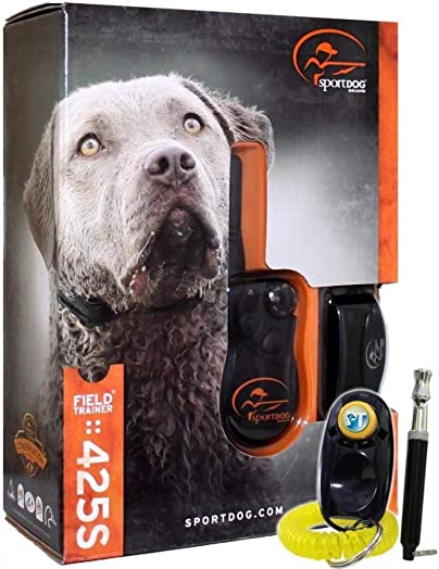 SportDOG Brand FieldTrainer 425S Stubborn Dog Remote Trainer – 500 Yard Range – Waterproof, Rechargeable Training Collar with Tone, Vibration, and Shock