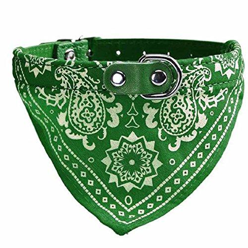 Culater® Retro Krawatte Fliege Katze Hund Haustier Bandana Halstuch Halsbänder Halskette S (grün)