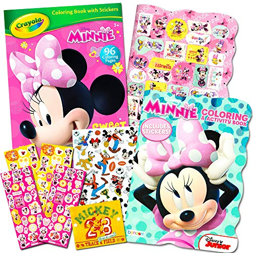 Disney Minnie Mouse Coloring Book Set with Stickers