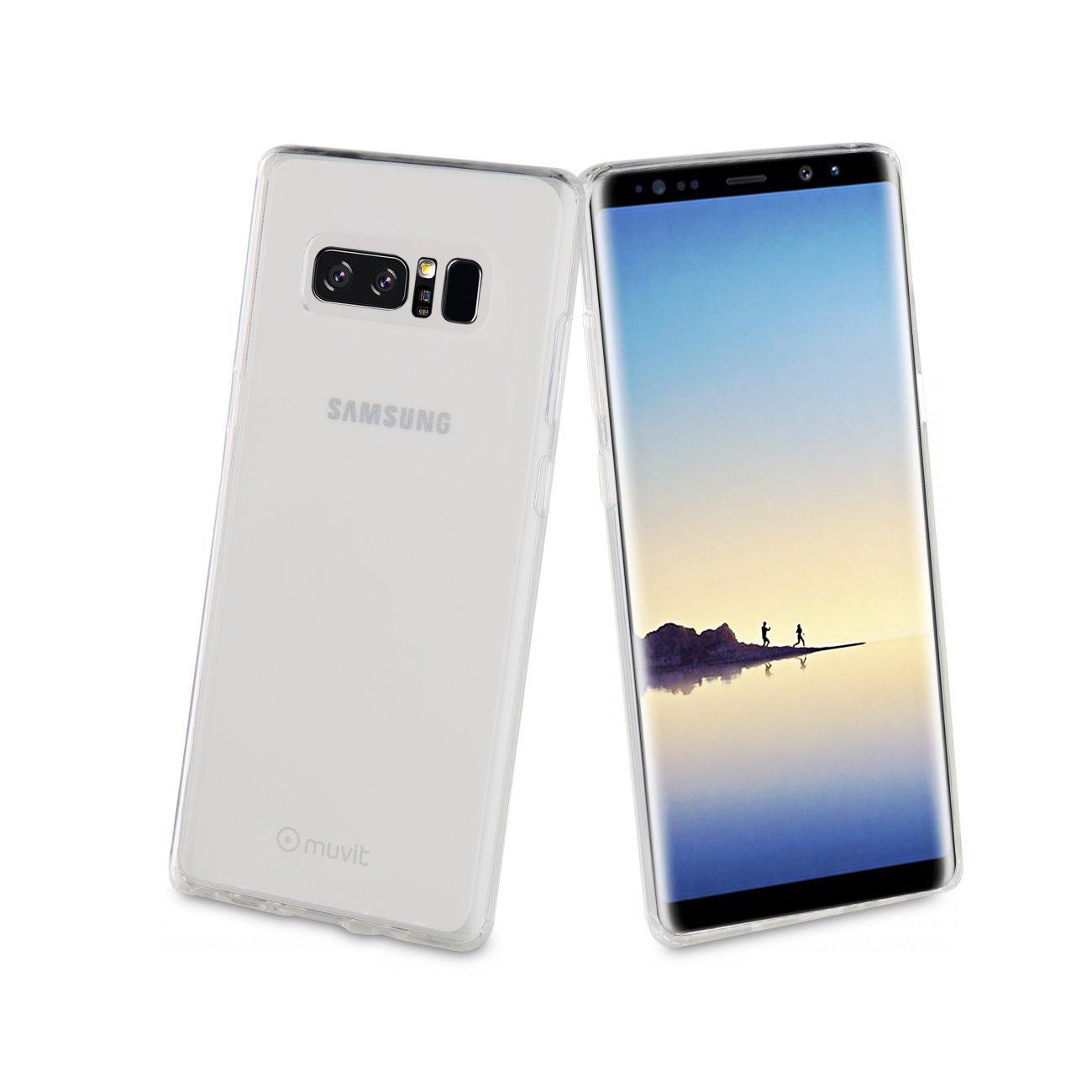 055cdf0a725554 Muvit Coque Crystal Soft Transparente  Samsung Galaxy Note 8  Amazon.fr   High-tech
