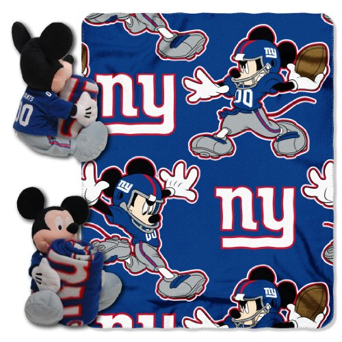 Giants Mickey Mouse (The Northwest Company Officially Licensed NFL New York Giants Co-Branded Disney's Mickey Hugger and Fleece Throw Blanket Set)