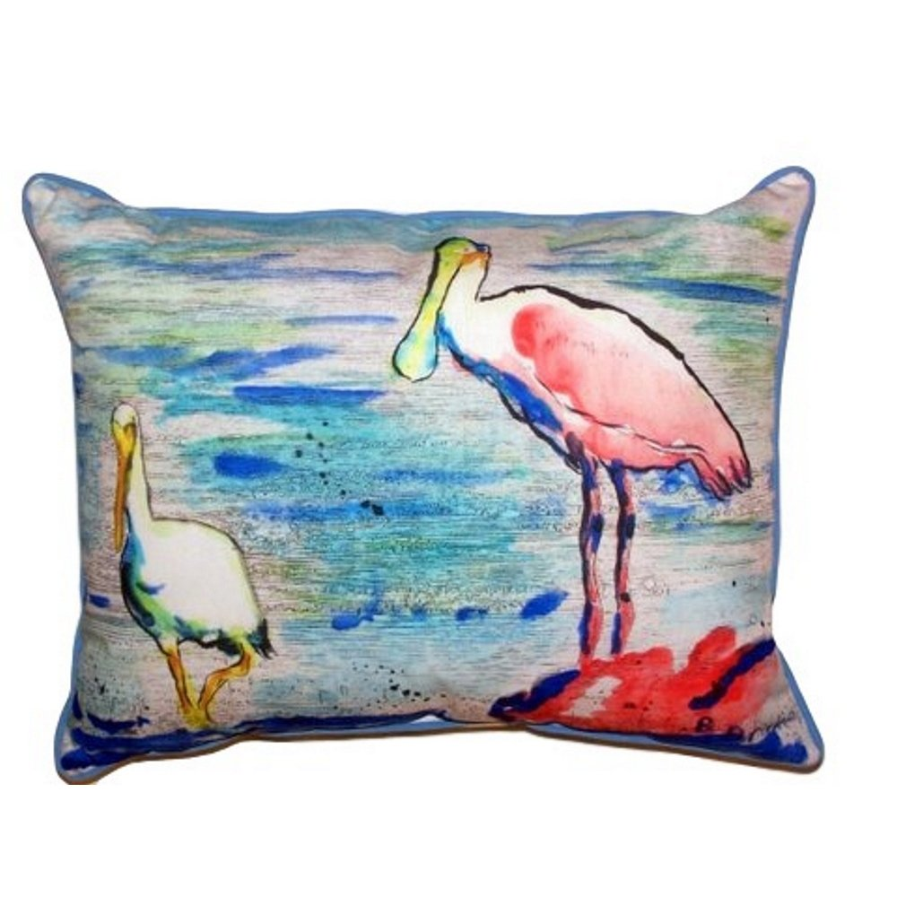 Betsy Drake SN532 Spoonbill & Ibis Pillow 11' x14'