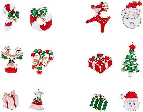 YAZILIND Christmas Bell Stud Earrings Xmas Jewellery Gift Women Girls