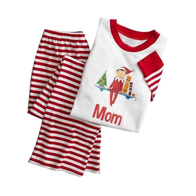Juleya Conjunto de Pijamas de la Familia Feliz Navidad Conjunto Ropa de Dormir Ropa de Dormir