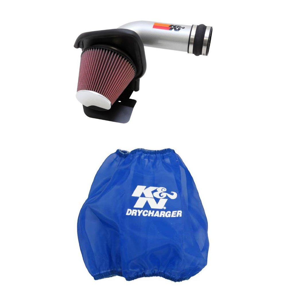 K/&N 69-3531TS Performance Air Intake System with Blue Air Filter Wrap