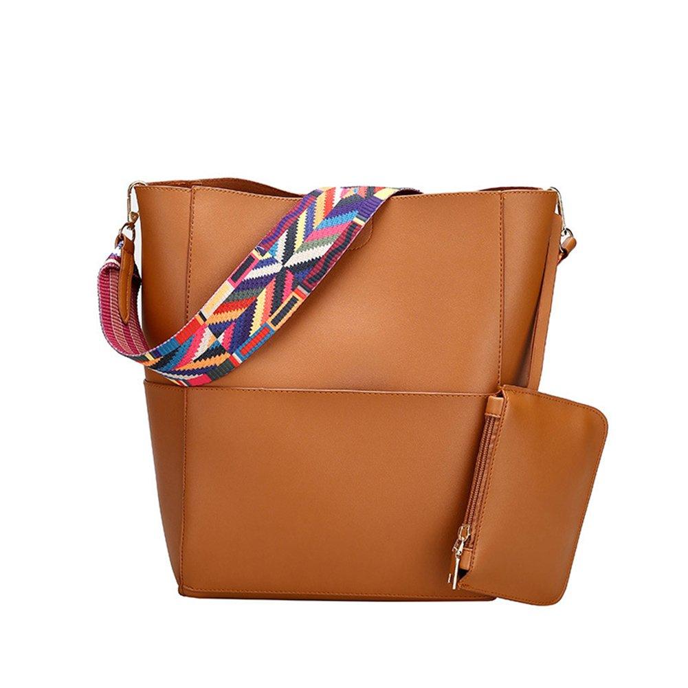 Pahajim PU leather Casual Hobo Bag Crossbody Bag Shoulder Bag women top handle satchel (brown)