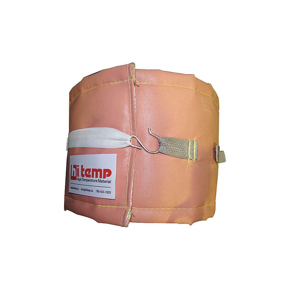 Image of Hi Temp, P51-8X36-PLW, Welding Pipe Wrap, 8 in. W, 3 ft, Pink Ergonomic Supports