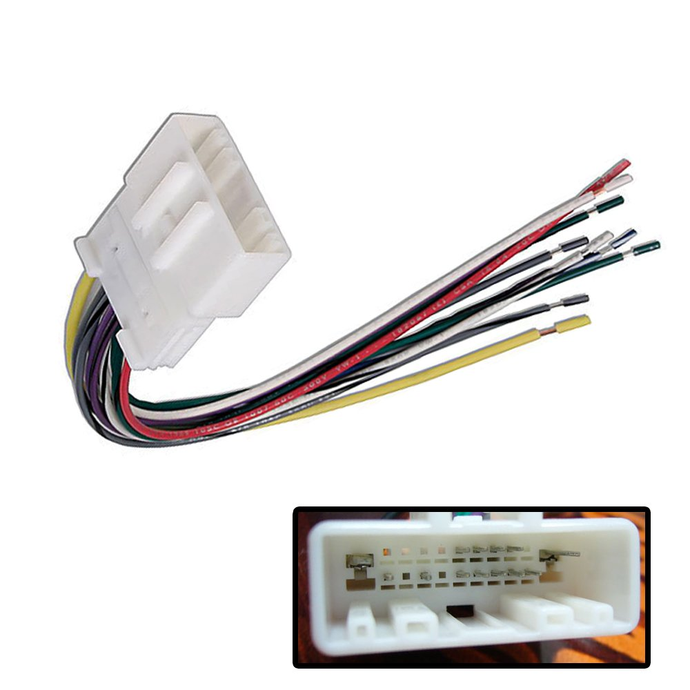 611P3cD7uPL._SL1000_ amazon com car stereo cd player wiring harness radio antenna nn04b harness at panicattacktreatment.co