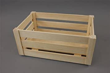 Plain Unpainted Wooden Set Crate Storage Box Small Craft Box (L  32 X 21