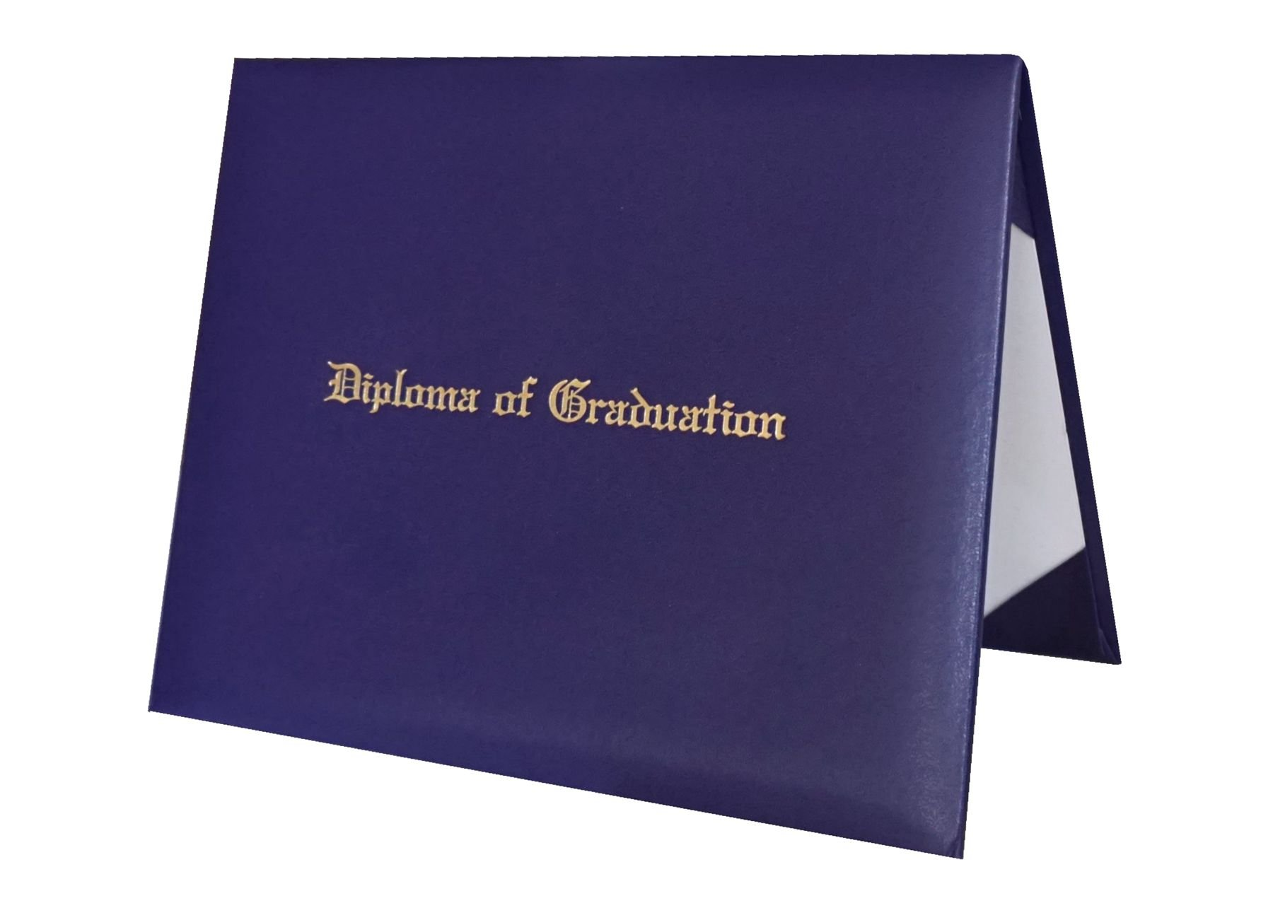Certificate Cover Imprinted ''Diploma Of Graduation'' Smooth Diploma Cover 8.5'' x 11'' Grad Days (purple)