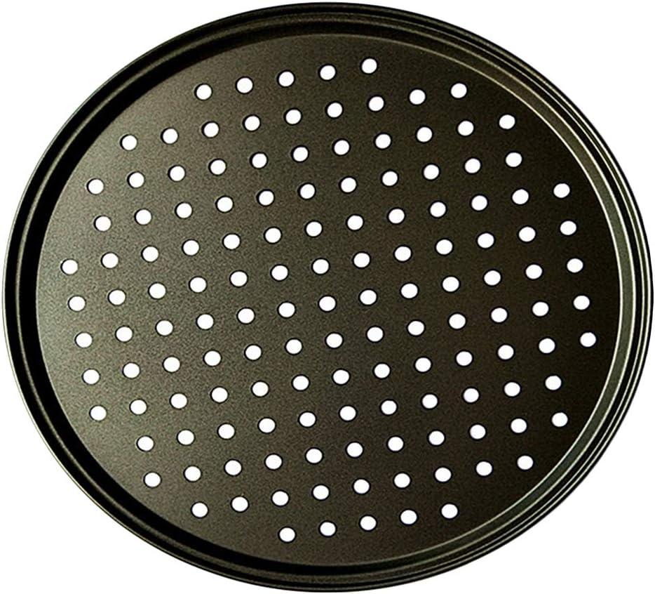 Plaque /à pizza en acier carbone antiadh/ésif 26cm