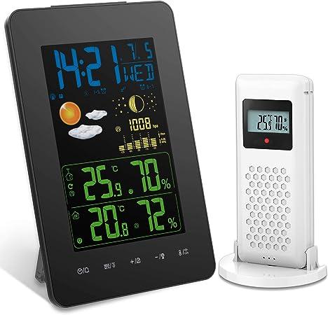 Wireless Digital Rain Gauge Meter Indoor Outdoor Thermometer Weather Station Hot
