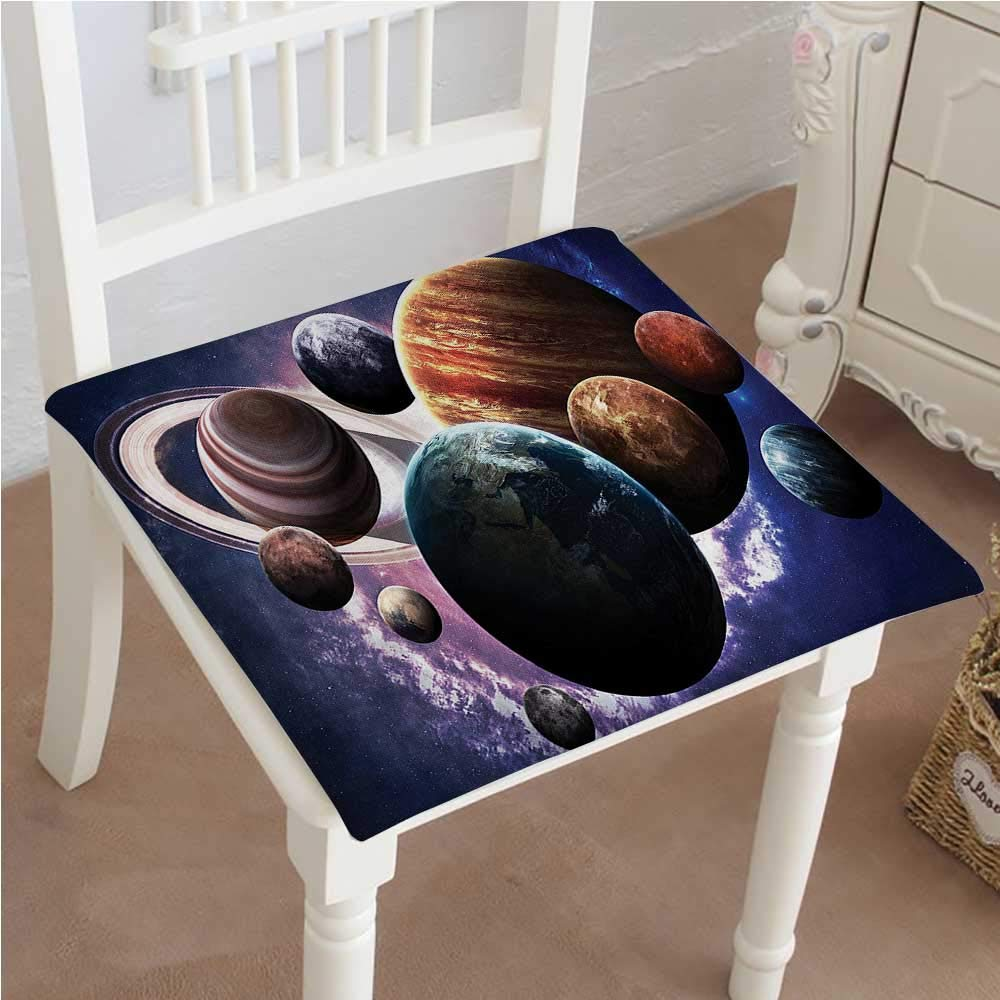 Mikihome Dining Chair Pad Cushion Solar System Planets All Together in Space Mercury Jupiter Globe Saturn Universe Concept Fashions Indoor/Outdoor Bistro Chair Cushion 20''x20''x2pcs