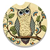 CounterArt Absorbent Stoneware Car Coaster, Wise Owl