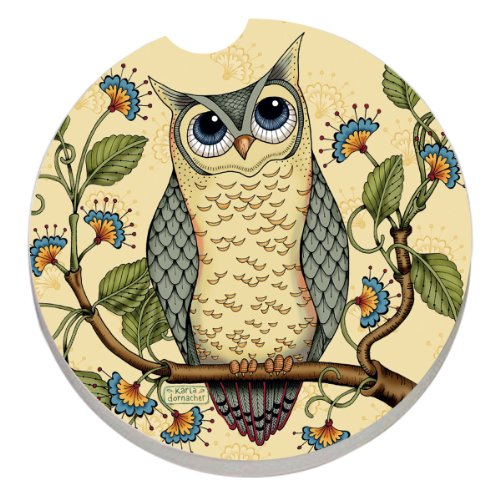 CounterArt Absorbent Stoneware Coaster Wise