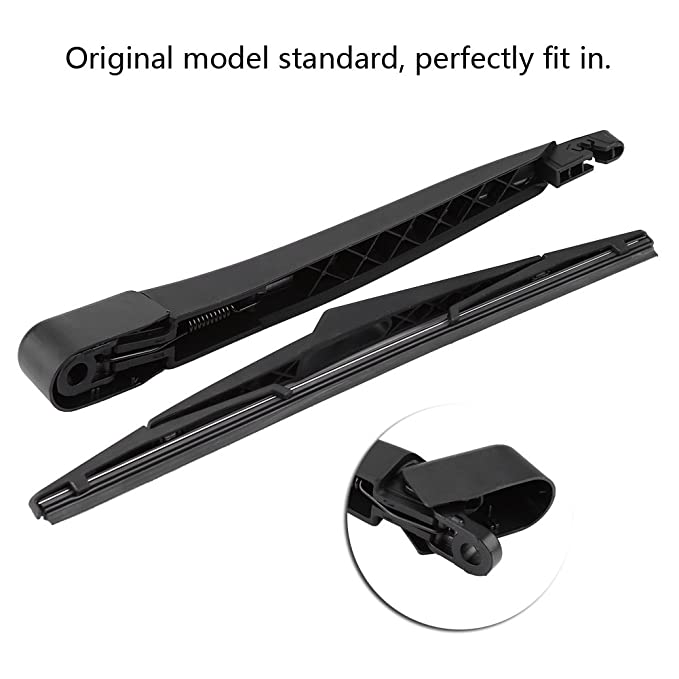 Amazon.com: Qiilu Car Rear Windshield Windscreen Wiper Arm & Blade ...
