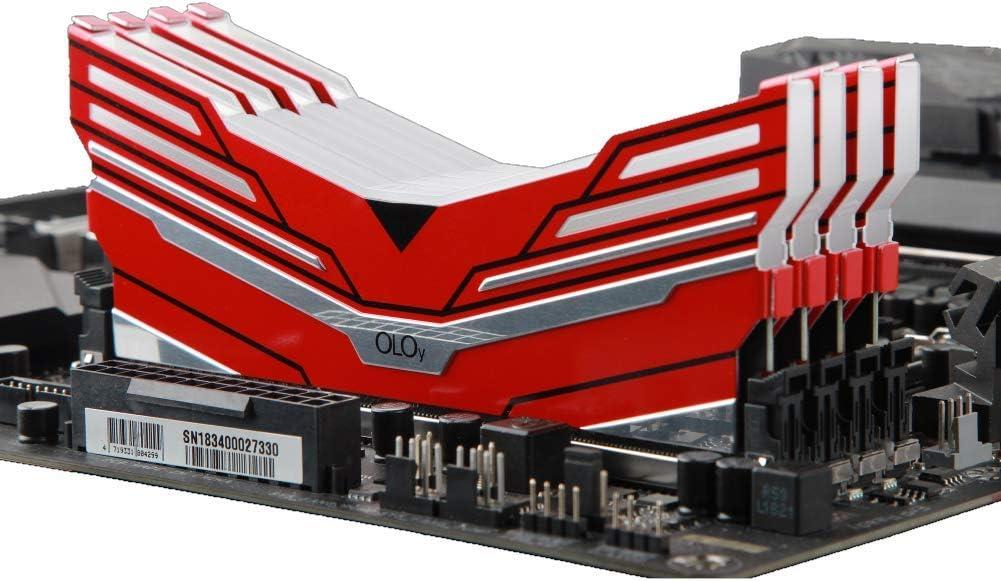 OLOy DDR4 RAM 32GB 2x16GB MD4U163619BCDA Warhawk Aura Sync RGB 3600 MHz CL19 1.35V 288-Pin Desktop Gaming UDIMM